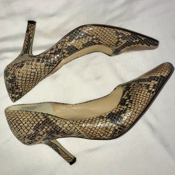 Karen Scott Shoes - 3/$30 Karen Scott Faux Snake Tan Pumps 7 1/2 M